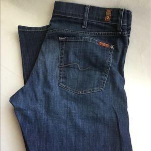 Men's 7 for all Mankind standard denim jeans 38